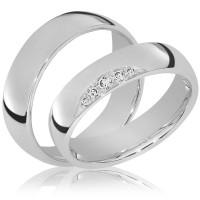 Partnerringe / Freundschaftsringe Goch 925er Silber - 0948